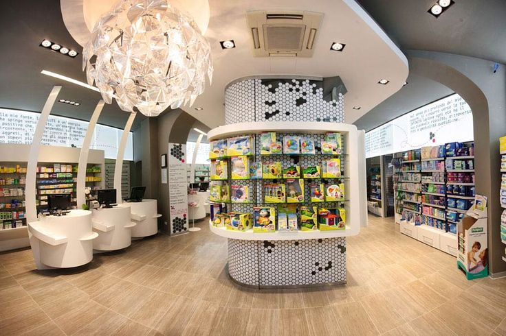 Modern architecture interior design and retail store for Modern pharmacy design